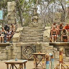 The split tribes before the challenge.