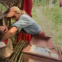 Scout competing in the Final 5 Immunity Challenge, <a href=