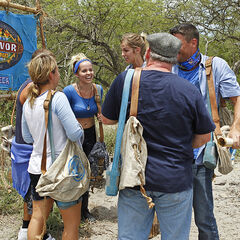 Escameca arriving at their camp on <a href=