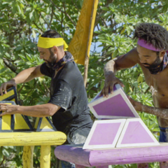 Lavita competes in the final five Immunity Challenge, <i><a href=