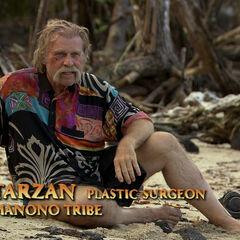 Tarzan giving a <a href=