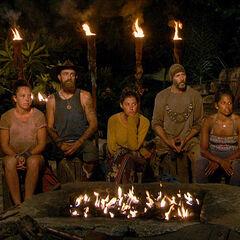 Koru at their ninth Tribal Council.