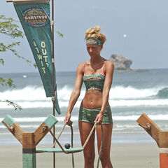 Jaclyn at the first individual Immunity Challenge.
