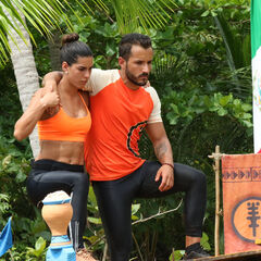 Fernanda and Juan Carlos competing for Pudientes in the fifth Advantage and Punishment Challenge, <i><a href=