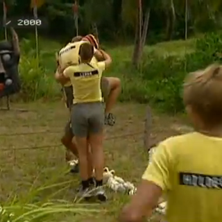 The South Team celebrates one of its many immunity wins