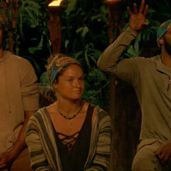 Ashley at her second Tribal Council.