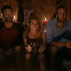 The final 3 at Tribal Council.