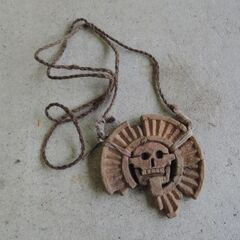 <i>Survivor: San Juan del Sur</i> Hidden Immunity Idol, a broken Maya medallion.