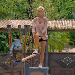 Tina competes in the final Redemption Island duel, <i><a href=