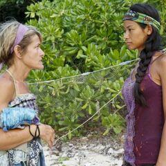 Dawn and Brenda strategizing.