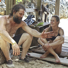 Candace with Rupert on Redemption Island before their duel.