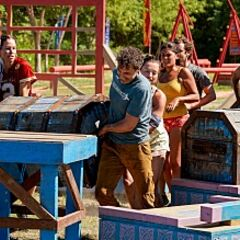 Sele competes in the third Reward/Immunity Challenge, <i><a href=