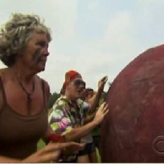 Gillian at the 2nd Immunity Challenge.