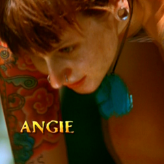 Angie's motion shot in the intro.