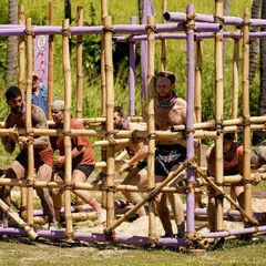 Vokai competes in the sixth Immunity Challenge, <i>Cage Against the Machine</i>.
