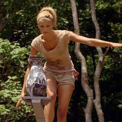 Andrea during the duel.