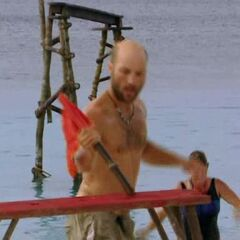 Chad competes in the first individual Immunity Challenge.