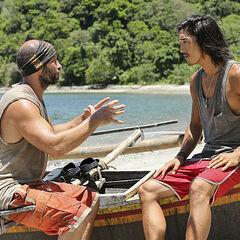 Tony telling Woo about his secret plan.