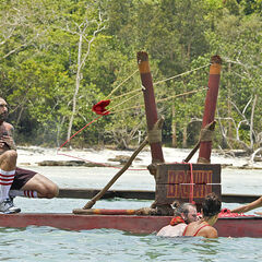 Alecia with Jennifer, Jason, and Scot at the second Immunity Challenge.