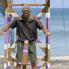Keith competing in the Immunity Challenge.