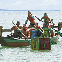 The green team competes in <i>Cambodia</i>.