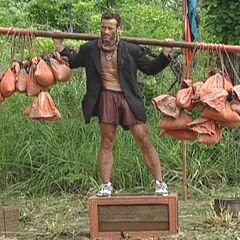 Andrew competes for immunity.