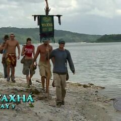 Brian leading Yaxhá back to camp after the <a href=