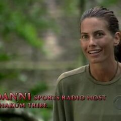 Danni making a confessional in the beginning of the finale.