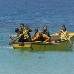 Soko paddling into <a href=