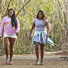 Natalie and Nadiya arriving on Day 1.