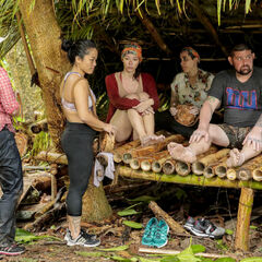 Bi with her tribemates in the shelter.