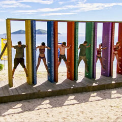 Vata competing in the Immunity Challenge, <i><a href=
