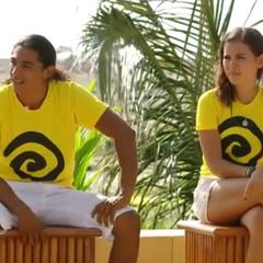 Julio César and María Reneé at the Finale.
