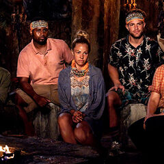 Vuku at their first Tribal Council as a new tribe.