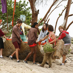 Vanua getting their supplies.