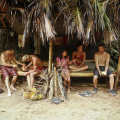 Kalabaw in their shelter without Dana.