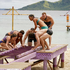 Vokai competes in the second Immunity Challenge, <i>Rung O Star</i>.