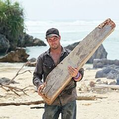 LJ collecting wood for Solana