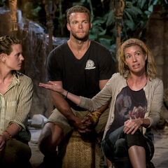 Chrissy speaking at her second Tribal Council.