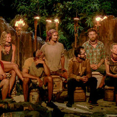 Solewa at their fifth Tribal Council.