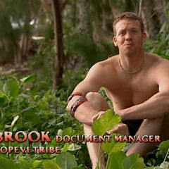 Brook giving a confessional.