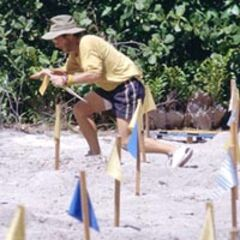 Clay at the first individual Immunity Challenge.