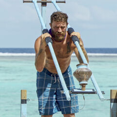 Ben competing in <i>Squatty Probst</i> for immunity.