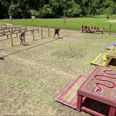 Dangrayne competes in <i>Snake in the Grass</i> for immunity.