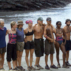 The tribe at its first challenge.