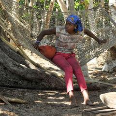 Michaela at Nuku camp.