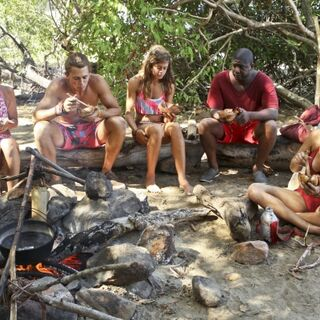 Nina with her tribe on Day 7.