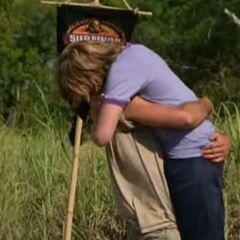 Shane hugging his son
