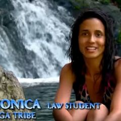 Monica making a confessional.