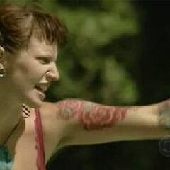 Angie challenging the Koror tribe.